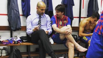 Foto- El entrenador Pep Guardiola y Lionel Messi volverían a estar juntos..jpg