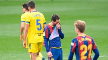 Foto- A pesar del gol de Messi no pudo ante el modesto Cádiz..jpg