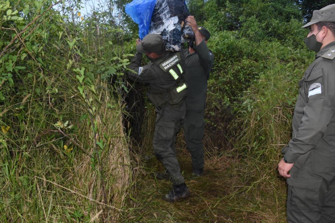 Gendarmes detectan m_s de 229 kilos de marihuana acopiadas entre la maleza (3).jpeg