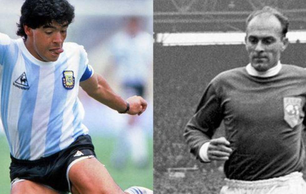 """Maradona y Di Stéfano, nominados al """"equipo de los sueños"""""""