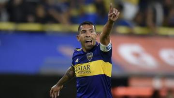 Foto- Carlitos Tevez es la carta de gol del Xeneize en el partido de ida de los octavos de final..jpg