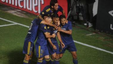 Foto- Boca festeja el segundo gol anotado por Wanchope Ábila quel le dio la clasificación..jpg