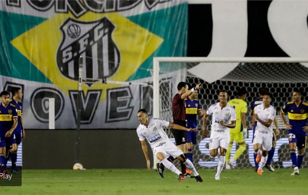 Boca cayó sin atenuantes 3-0 ante Santos y quedó eliminado de la Copa Libertadores