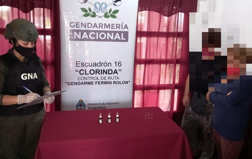 Gendarmes detectan aceite de cannabis  en encomienda con rumbo a Salta