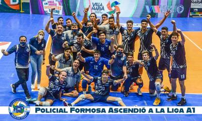 Policial de Formosa logró el ansiado ascenso a la Liga A1 del vóley masculino
