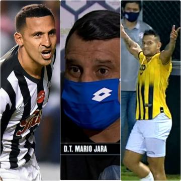Foto- El tridente formoseño en el fútbol guaraní. Sergio Aquino (Libertad), Mario Jara (12 de Octubre) y Raúl Bobadilla (Guaraní).jpg