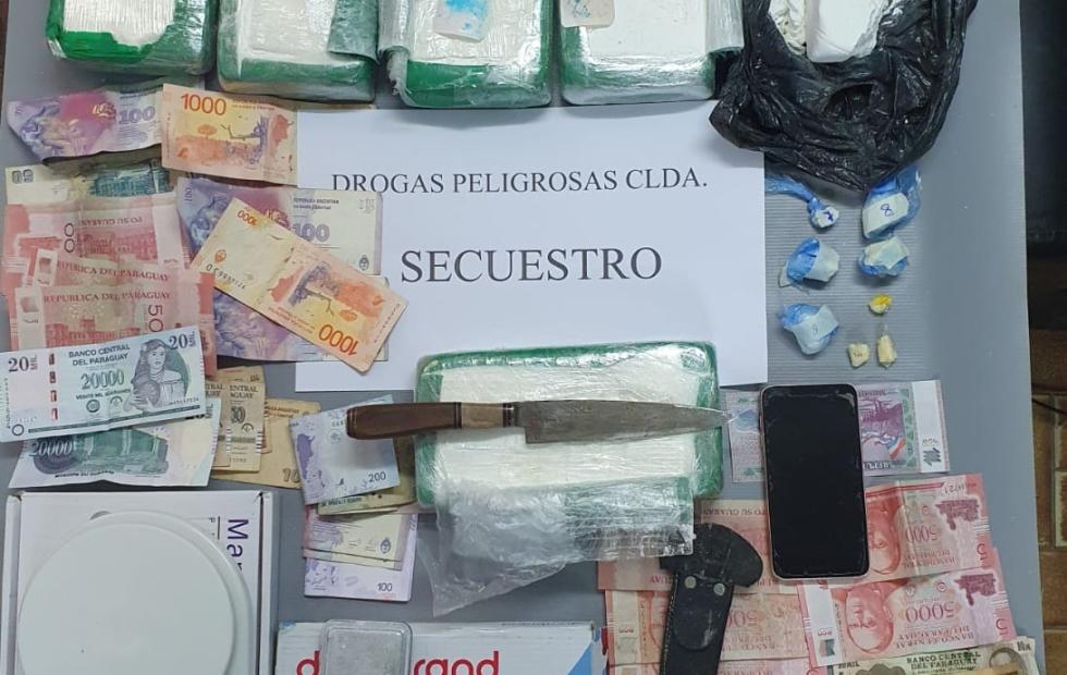 Drogas Peligrosas de Clorinda secuestra cocaína valuada  en cerca de $12.000.000 y detiene a dos personas