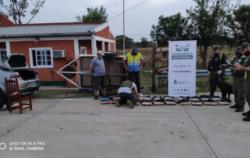 Gendarmería incautó alrededor de 50 kilos de marihuana en el límite de Formosa con Chaco