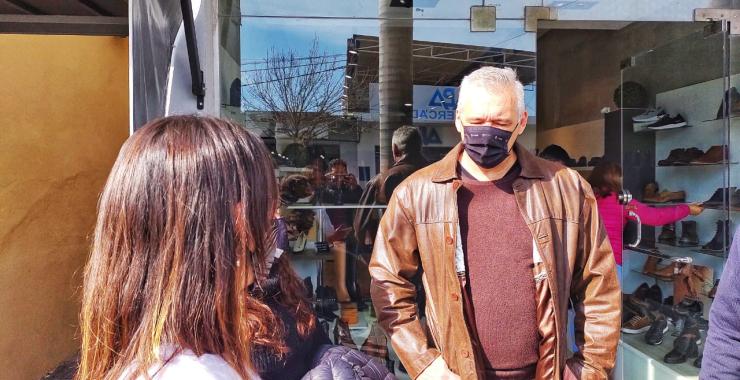 Carbajal y Maciel se acercaron a hablar con los comerciantes del casco céntrico