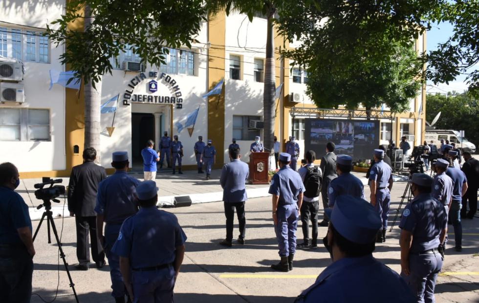 El vicegobernador Eber Solís presidió  el acto por el 60º aniversario de la Policía
