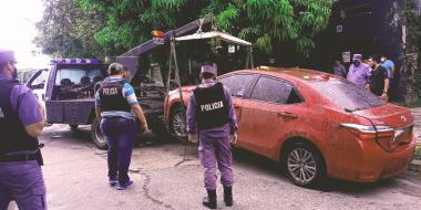 La Policía recuperó un automóvil con pedido de secuestro.jpg