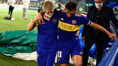 Foto- El Toto Salvió se hizo estudios que dieron una lesión ligamentaria en su rodilla izquierda..jpg