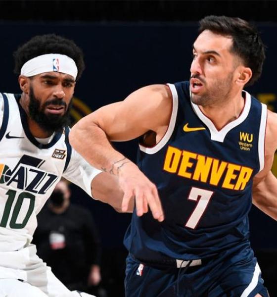 Denver Nuggets, con Campazzo, afronta una difícil prueba ante Utah Jazz