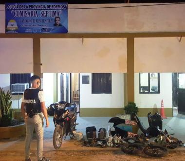 Secuestro motocicleta y motopartes con dos personas detenidas en el Distrito Cinco.jpg