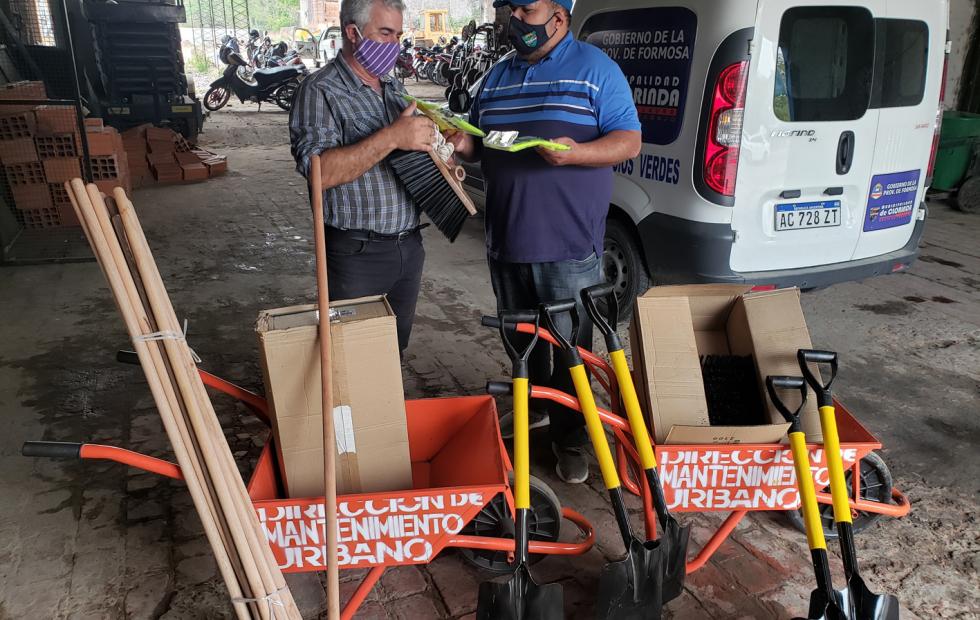 La Dirección de mantenimiento urbano recibió  elementos de trabajo y seguridad