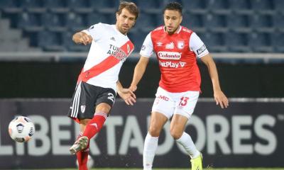 River no pudo convertir ante Independiente Santa Fe y terminó empatando en Paraguay